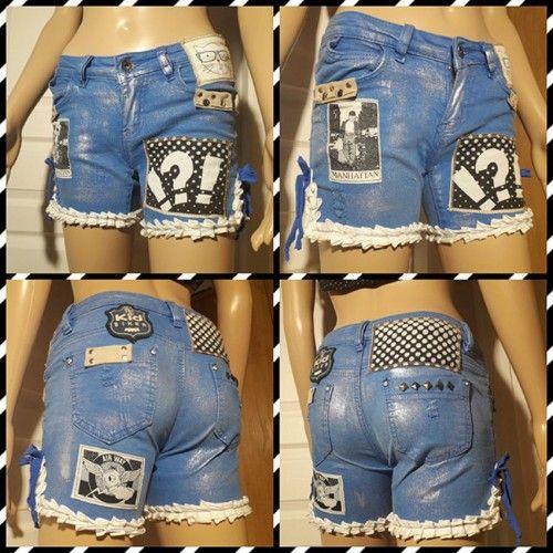Short customisé / Shorty customisé en jean