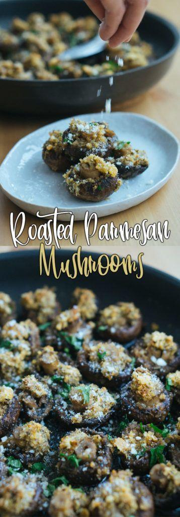Parmesan Garlic Oven Roasted Mushrooms