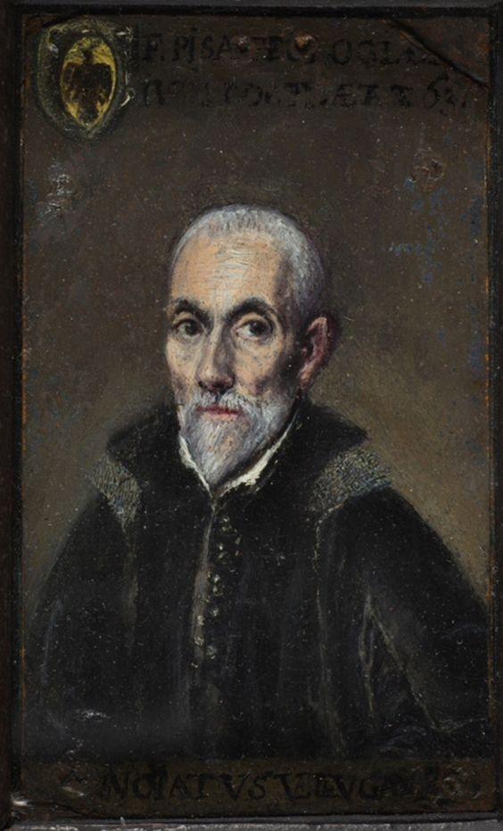 Retrato de Francisco de Pisa (1534-1588) . El Greco.