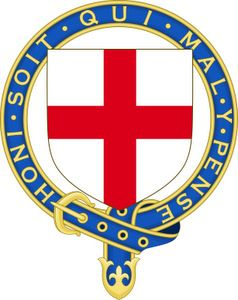 Honi soit qui mal y pense - French motto used by Anglophones - http://www.lawlessfrench.com/expressions/honi-soit-qui-mal-y-pense/
