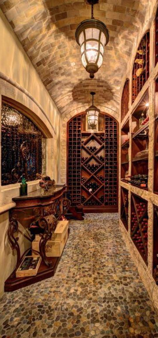 Old World, Mediterranean, Italian, Spanish u0026 Tuscan Homes u0026 Decor  Wine Cellar  Pinterest