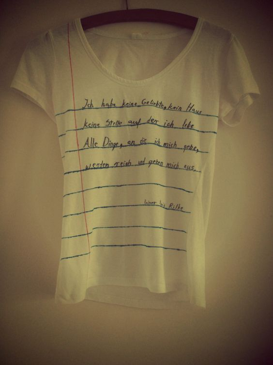 What to write on a t-shirt......?