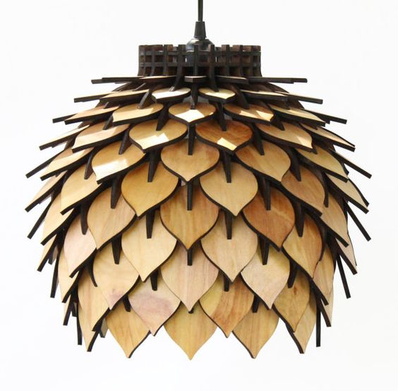 Spore Lamp Laser Cut Pendant Lamp Lighting by TerraformDesigns: