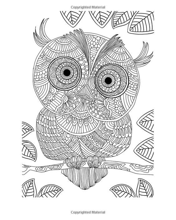 stress relieving coloring pages owls - photo#6