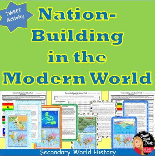 Your students will be engaged in this fun and interactive activity. Students will learn about the nations that gained independence after World War II: India, Philippines, Malaysia & Singapore, Burma (Myanmar), Indonesia, Pakistan and Sri Lanka, Ghana, Kenya, The Congo, Algeria. First the teacher will introduce the students to nation-building in the modern world with a creative power point presentation. They will then complete an activity by reading information about each country and...TES