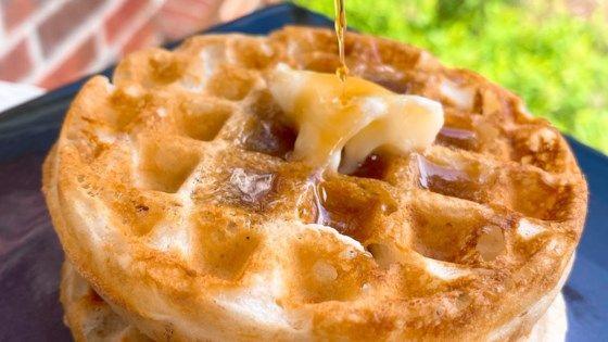 Crispy Eggless Waffles Recipe In 2020 Eggless Waffles Eggless Waffle Recipe Waffle Ingredients