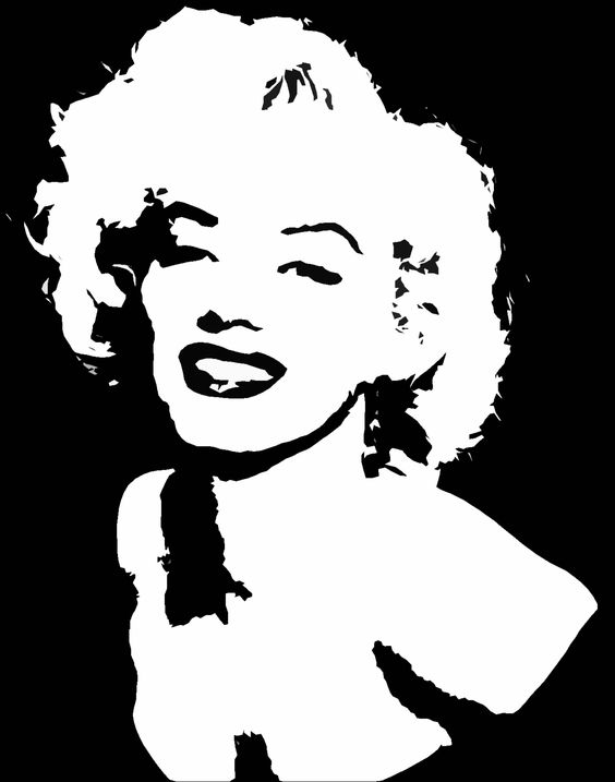 Marilyn Monroe And Stencils On Pinterest