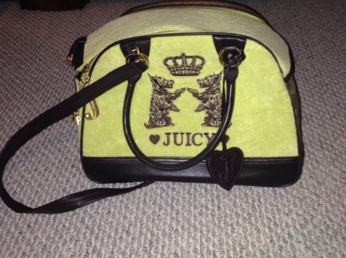Juicy Couture Dog Pet Velour Carrier | eBay