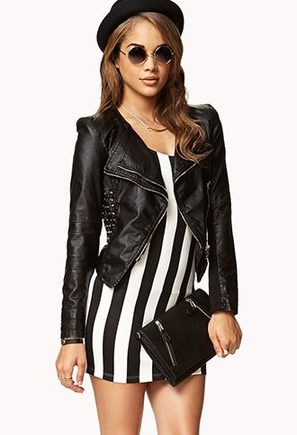 Studded Faux Leather Moto Jacket - Even cuter in person. I can't wait to wear it!