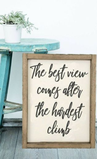 Rustic Wood Sign Ideas With Motivation Quotes 36