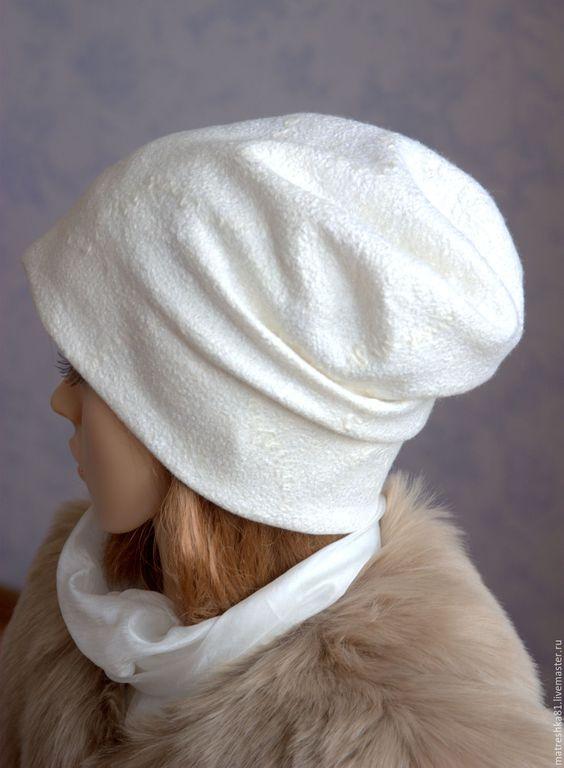 Купить Шапка валяная. С трикотажным эффектом. - шапка шапка шапка, шапка валяная…
