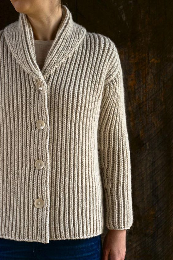 Knit Cardigan Pattern Top Down : Top-Down Shawl Collar Cardigan Purl Soho-Knitting Pinterest Purl bee, W...