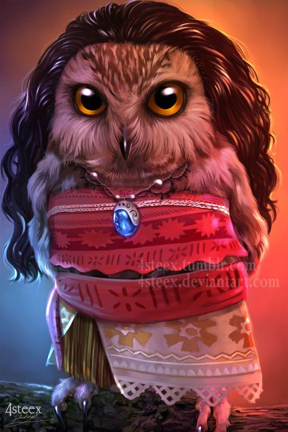 Disney Owls: Moawla by 4steex.deviantart.com on @DeviantArt