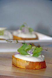Rezept: Gebackene Süßkartoffel mit Joghurthaube