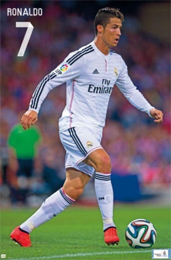 Real Madrid Ronaldo Poster Print 24 X 36 In 2021 Ronaldo Cristiano Ronaldo Real Madrid Cristiano Ronaldo
