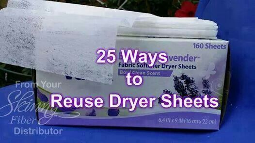 25 ways to reuse dryer sheets