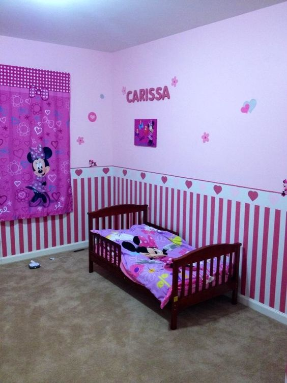 minnie mouse room new house gemma 39 s room pinterest. Black Bedroom Furniture Sets. Home Design Ideas