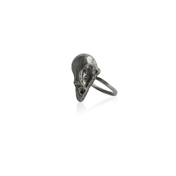 Reo Jewels | Sparrow Skull Ring Black | The Folly Boutique