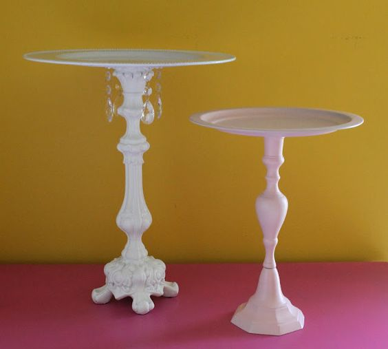 Plate stand from lamp and plate, can start looking for interesting lamp bases now.