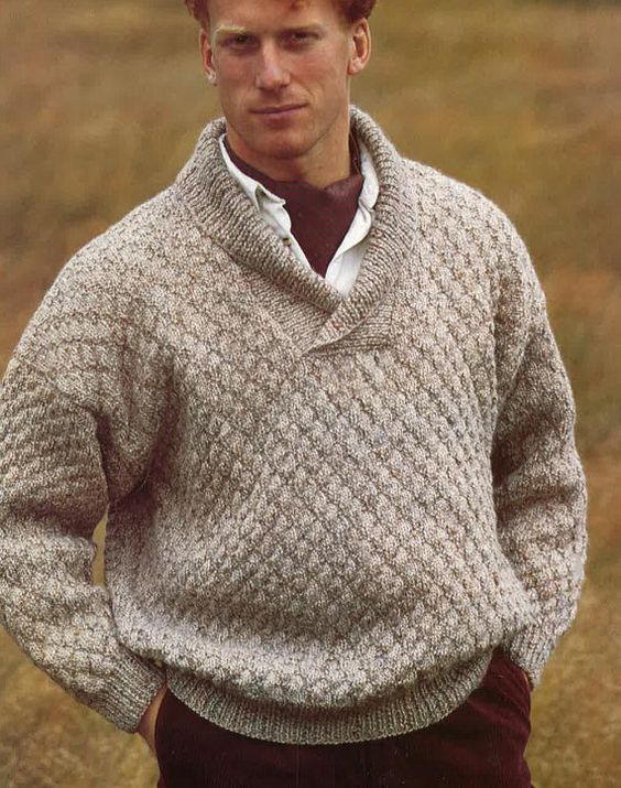 Mens Sweater Knitting Pattern PDF No.0338 From by TimelessOne, $2.99