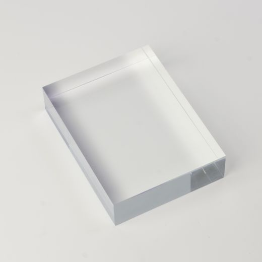 Solid Clear Acrylic Block 3 X 4 X 1 Thick Clear Acrylic Materials Board Interior Design Acrylic