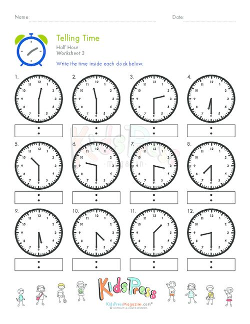 Worksheets Time To The Half Hour Worksheets clock telling time and math on pinterest half hour worksheet 3