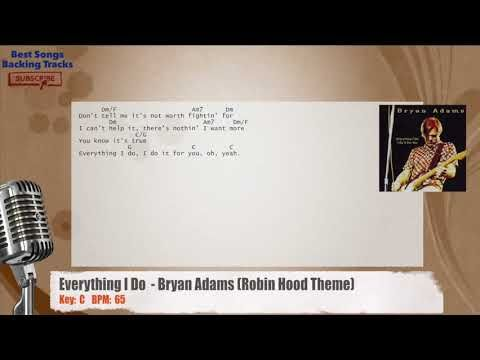 Everything I Do Bryan Adams Robin Hood Theme Vocal Backing Track