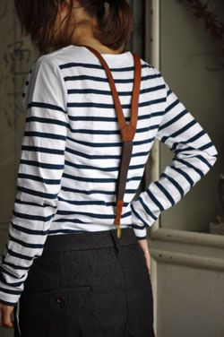 leather suspenders (that would never work with my not-so-flat chest) & stripes . vasco