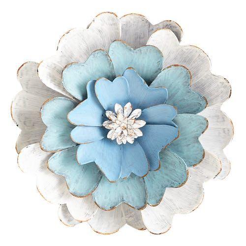 Blue Flower Metal Wall Decor Metal Flower Wall Art Metal Flower Wall Decor Metal Wall Flowers