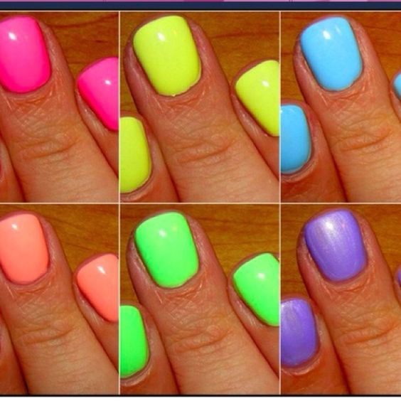 Summer neon nails!