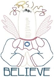 Angel Believe Sampler | Primitive | Machine Embroidery Designs | SWAKembroidery.com HeartStrings Embroidery