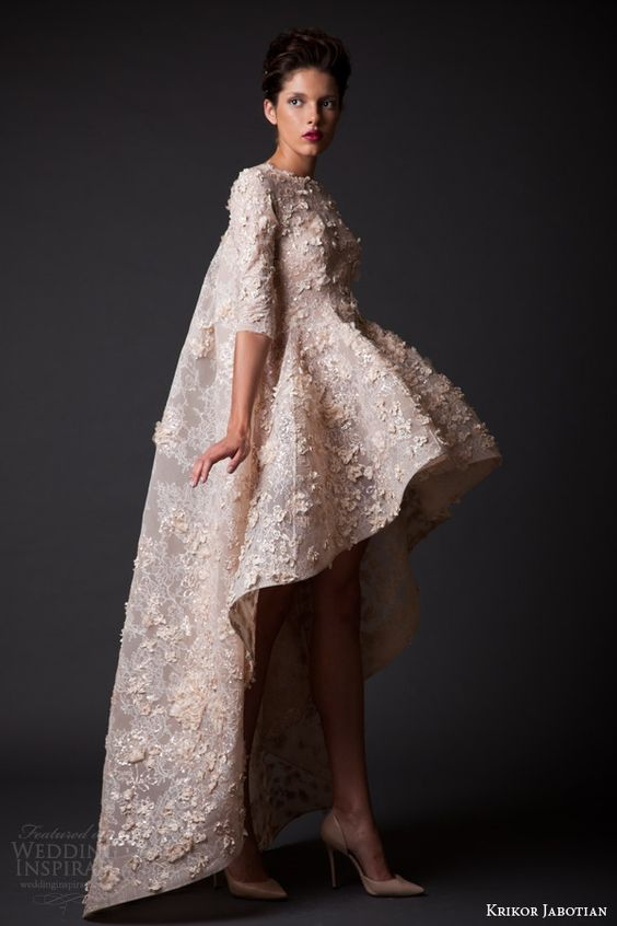 Krikor jabotian fall winter 2014 2015 amal collection for Short couture wedding dresses