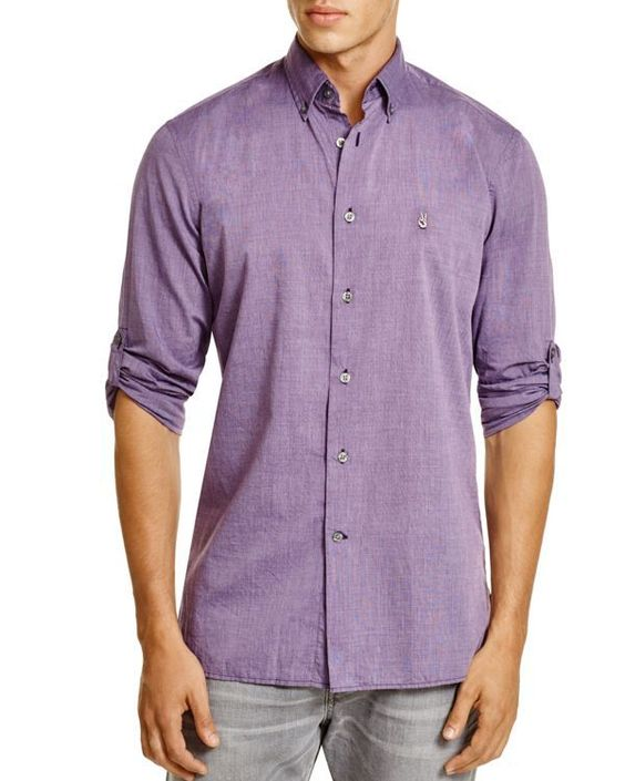 John Varvatos Basic Button Down Shirt - Slim Fit