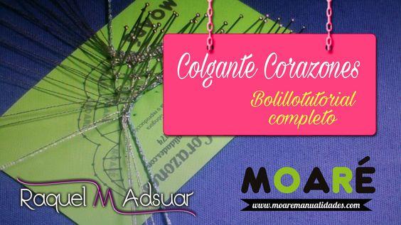005 Joyas de Encaje de Bolillos - Colgante Corazones - Tutoriales Raquel...