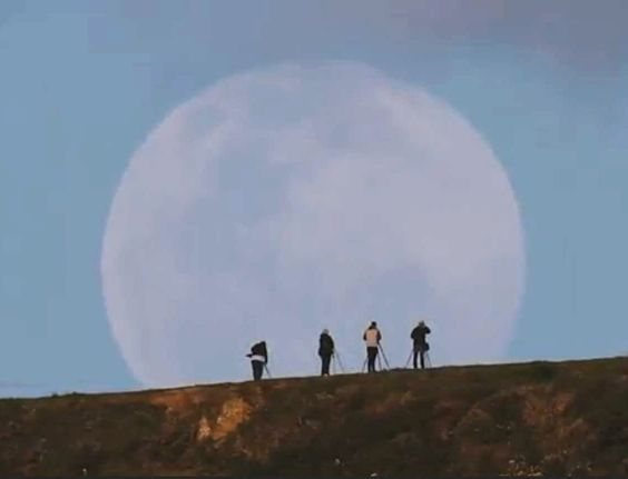 Vídeo flagra nascer da Superlua preenchendo horizonte na Nova Zelândia