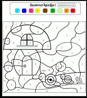 Coloriages magiques imprimer jeux de coloriage magique cp - Coloriage magique ps maternelle ...