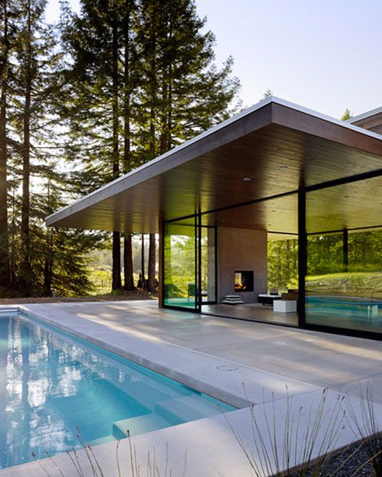 Contemporary Pool House: Sonoma County California, Sonoma County And Studios On