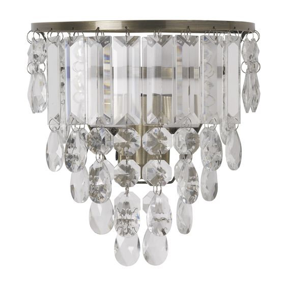 Laura Ashley Lavenham Wall Lights : Adelphi Brass and Clear Glass Wall Light Lamps Pinterest Laura ashley, Chic and Glass walls