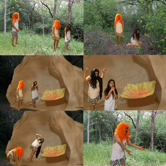 Rebeca Sandoval, Hansel & Gretel photo narrative, Introduction to Computer Based Art, studio section, Texas Woman's University, Spring 2014