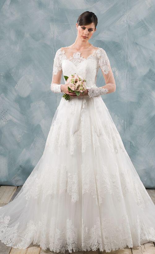 Wedding dress idea; Featured Dress: Delsa Couture