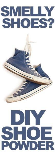 oooOOOO my son, my son. can-do: Diy Shoes, Essential Oil, Smelly Shoe, Diy Shoe Deodorizer, Diy Powder, Kids Shoes, Shoe Powder, Old Shoes, Foot Powder Diy