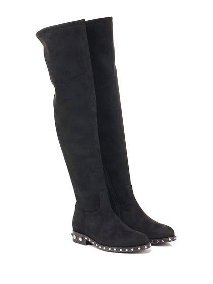 GIANCARLO PAOLI - Stivali - Donna - Stivale in camoscio stretch con zip su lato…