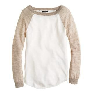 Linen baseball sweater - Pullover - Women's sweaters - ...
