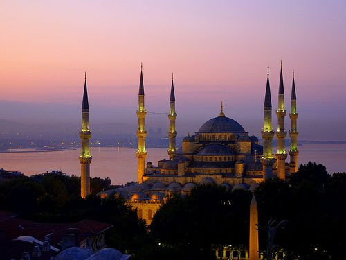 Blue mosque, Istanbul It was built from 1609 to 1616, during the rule of Ahmed I.
