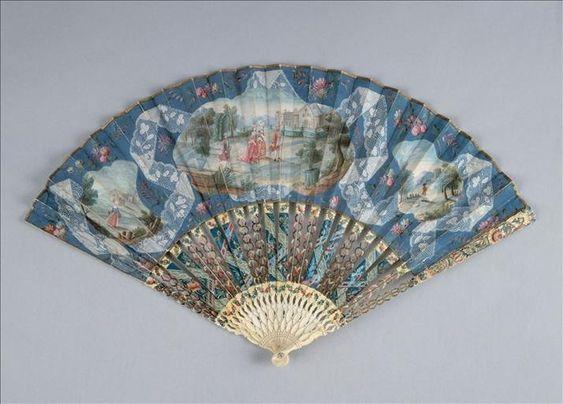 Fan, 18th century: