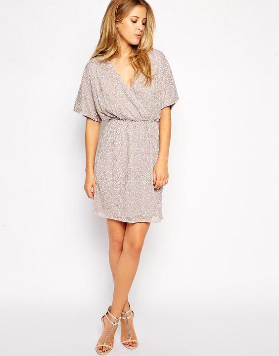 Image 4 of ASOS Sequin Kimono Dress  Clothing  Pinterest  ASOS ...