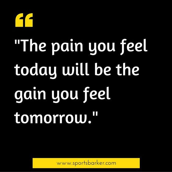 """""The pain you feel today will be the gain you feel tomorrow"" #sportsbarker #sportsquotes #quotesoftheday #quotestoliveby"" Photo taken by @sportsbarker on Instagram, pinned via the InstaPin iOS App! http://www.instapinapp.com (09/21/2015)"