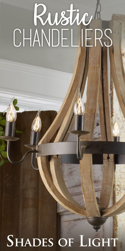 This Well Curated Selection Of Rustic Wood Chandeliers Have An