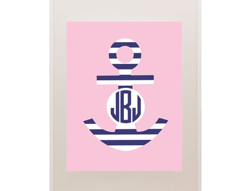 Free printable monogram nautical anchor. Just type in intials and hit print!  So fabulous!