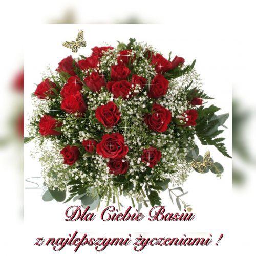 Kartka Bukiet Najpiekniejszych Zyczen Dla Basi E Kartki Net Pl Christmas Wreaths Holiday Decor Holiday